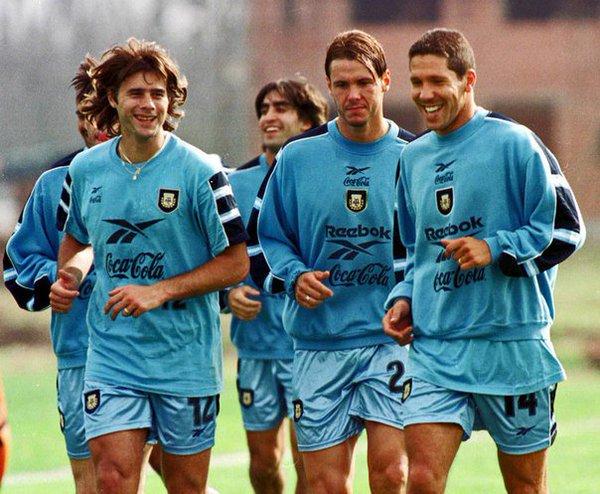 90s Football On Twitter Mauricio Pochettino Fernando Redondo And Diego Simeone