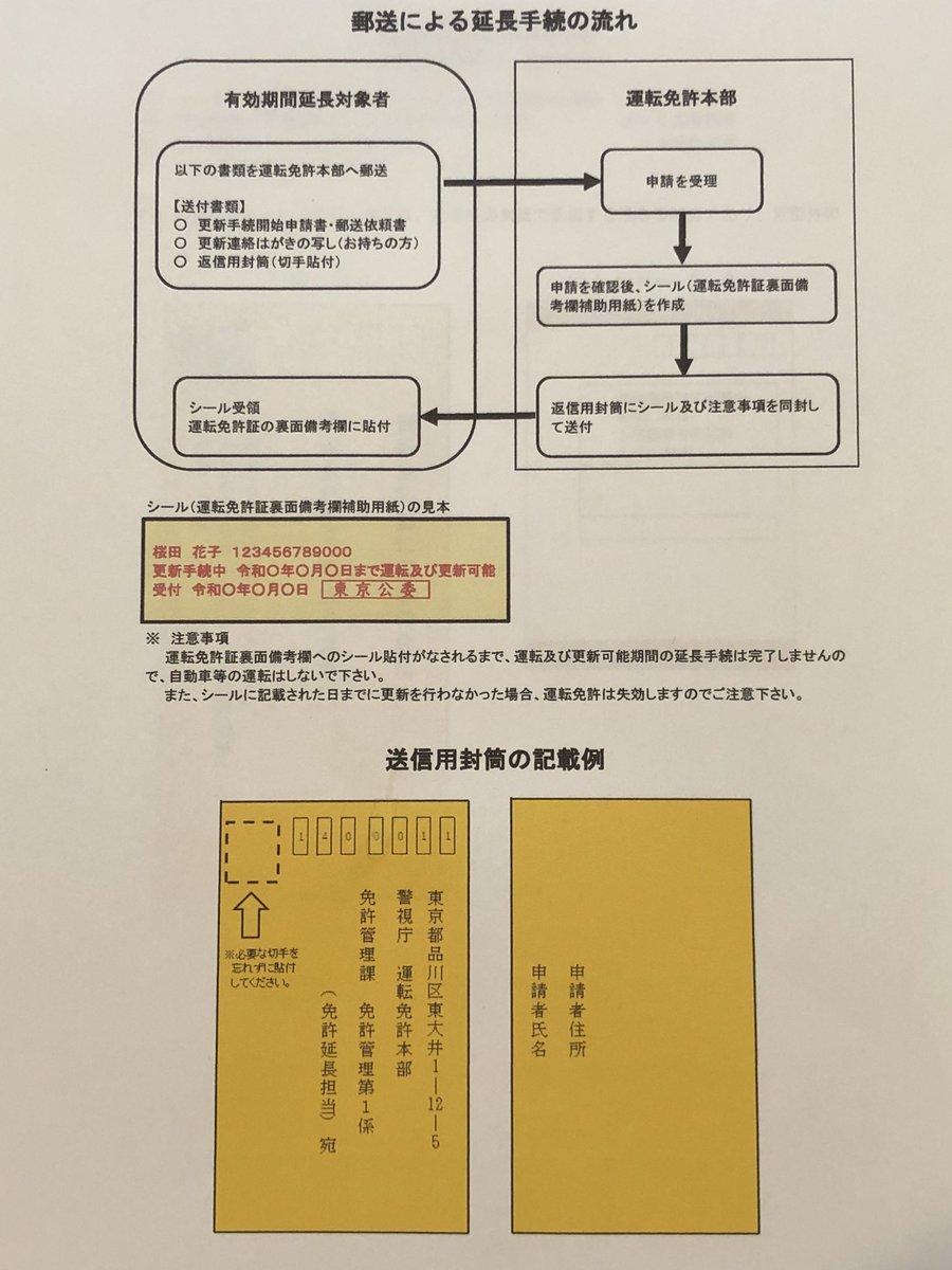 東京 延長 免許 更新