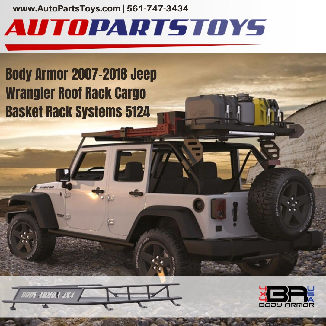 Autopartstoys Com On Twitter Body Armor 2007 2018 Jeep Wrangler Roof Rack Cargo Basket Rack Systems 5124 Buy From Https T Co 0o9nexkafi Bodyarmor Jeepwrangler Cargobasketrack Https T Co Decpcszjl4