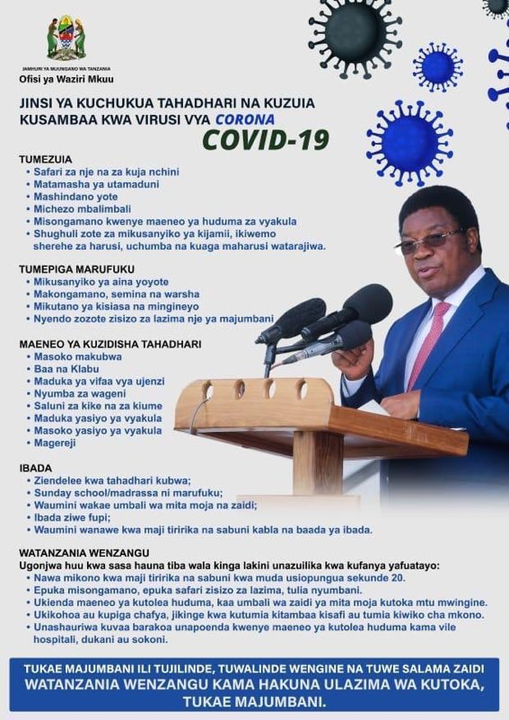 8./The point about religion and a secular state is crucial constituonally and practically in  #Tanzania;in as much as a a statement by a President can be influential,it doesn't necessarily mean it's the recommendation from the government,the PM image below doesn't even mention it.