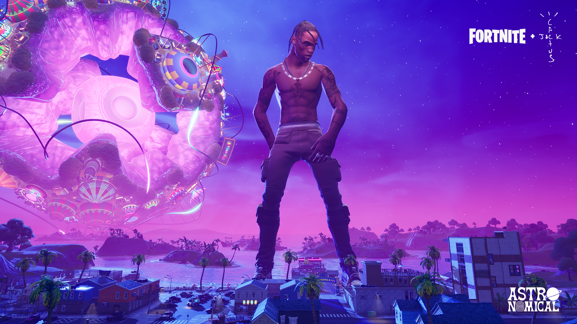 Fortnite On Twitter Thank You To Everyone Who Attended And Created Content Around The Travis Scott Event Over 27 7 Million Unique Players In Game Participated Live 45 8 Million Times Across The Five Events #travisscott #kidcudi #fortnite #astronomical #thescotts #fortnitetravisscottevent. travis scott event