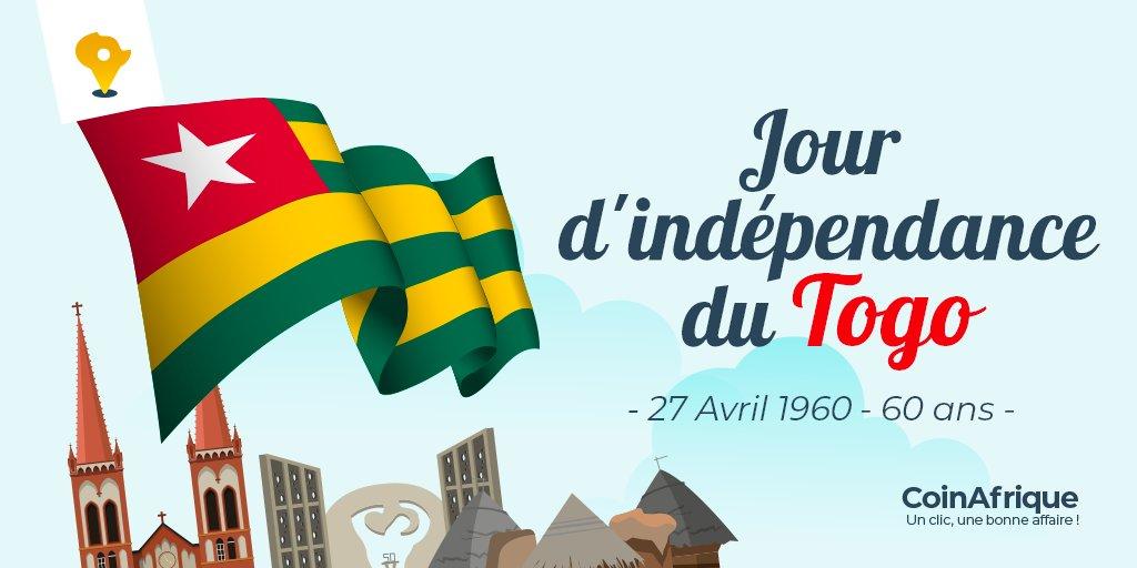 Souhaitons tous ensemble une bonne fête de l'indépendance au peuple togolais.🥳🇹🇬  #independance #miabetogo #Togo228 https://t.co/qo3nosWbtm