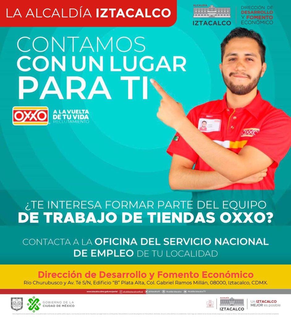 "¿Vecin@ de @IztacalcoAl, buscas #trabajo?  #Empléate en @OXXOTiendas  ""A nivel nacional"" Los requisitos y detalles  http://bit.ly/OficinasSNE-COVID19…  pic.twitter.com/v8ywZokIQ2"