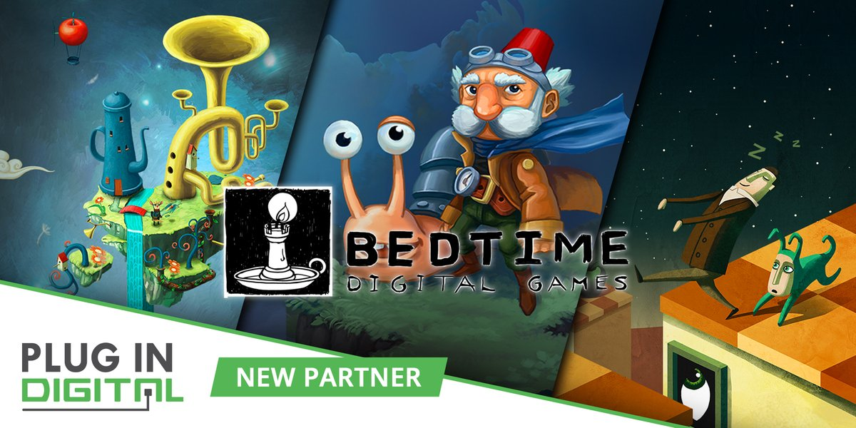 We're glad to have Bedtime Digital Games (@BedtimeDG) as our new partner!  This indie studio creates beautiful and artistic games, such as Figment, Back to Bed and Chronology. You can already find theses games on our partner's stores. #TeamPlugInPC https://t.co/hGJsHsicx5