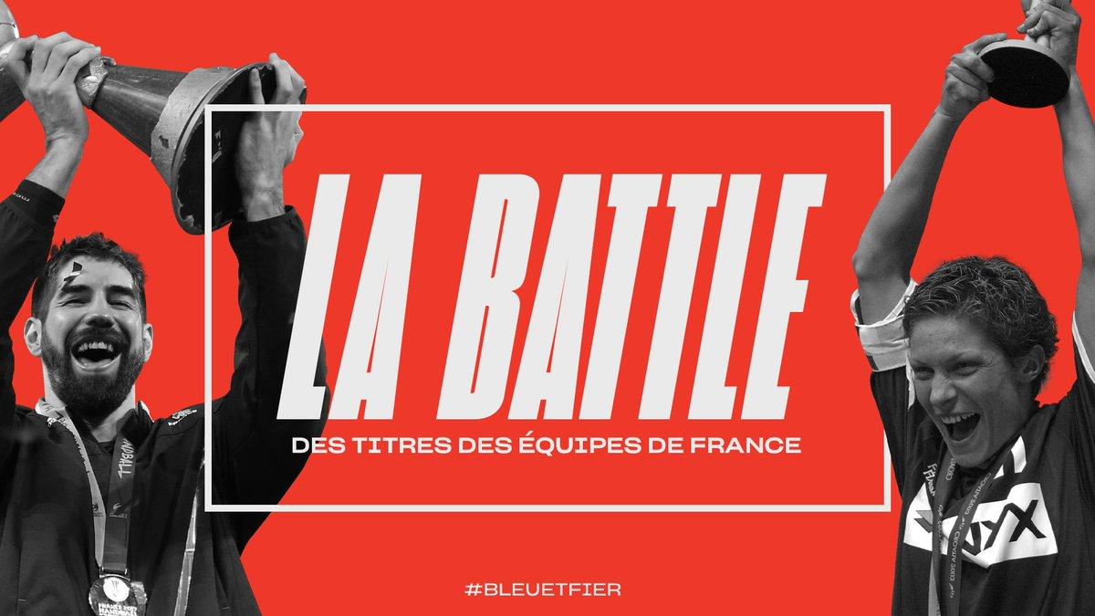 Coup d'envoi de la #battle des titres des Equipes de France !