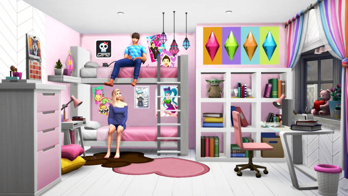 Picture of: Paogae Thesims On Twitter Decorative Bunk Bed No Cc Bb Moveobjects On Id Paogae I Used Teleport And Pose Player To Place The Upper Sim Https T Co 8lbcyuutwu Thesims4 Sims4 Ts4gallery Nocc Sims4builds Moveobjects Showusyourbuilds