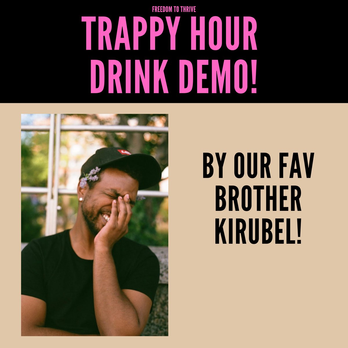 Drink demos with Kirubel 🍸