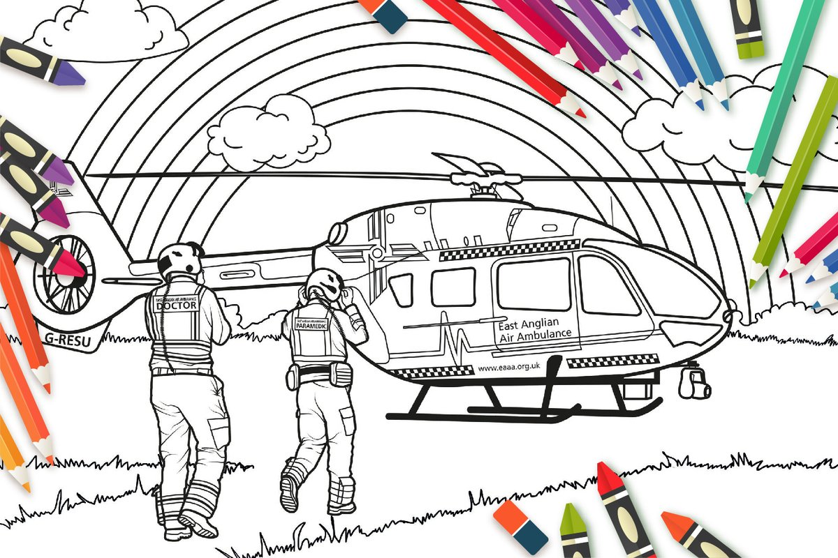 East Anglian Air Ambulance On Twitter Calling All Of The Creative Wizz Kids Or Grown Ups Out There We Want To See How Colourful You Can Make Our Air Ambulance And