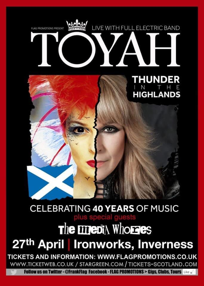 OTD last year we were up north @IronworksVenue gigging w/@toyahofficial  Lets hope we can do it again when safe to do so! ✊ 🤞 #StayAtHome #StayHomeBands #ThunderInTheHighlands https://t.co/zFAjm0jamP