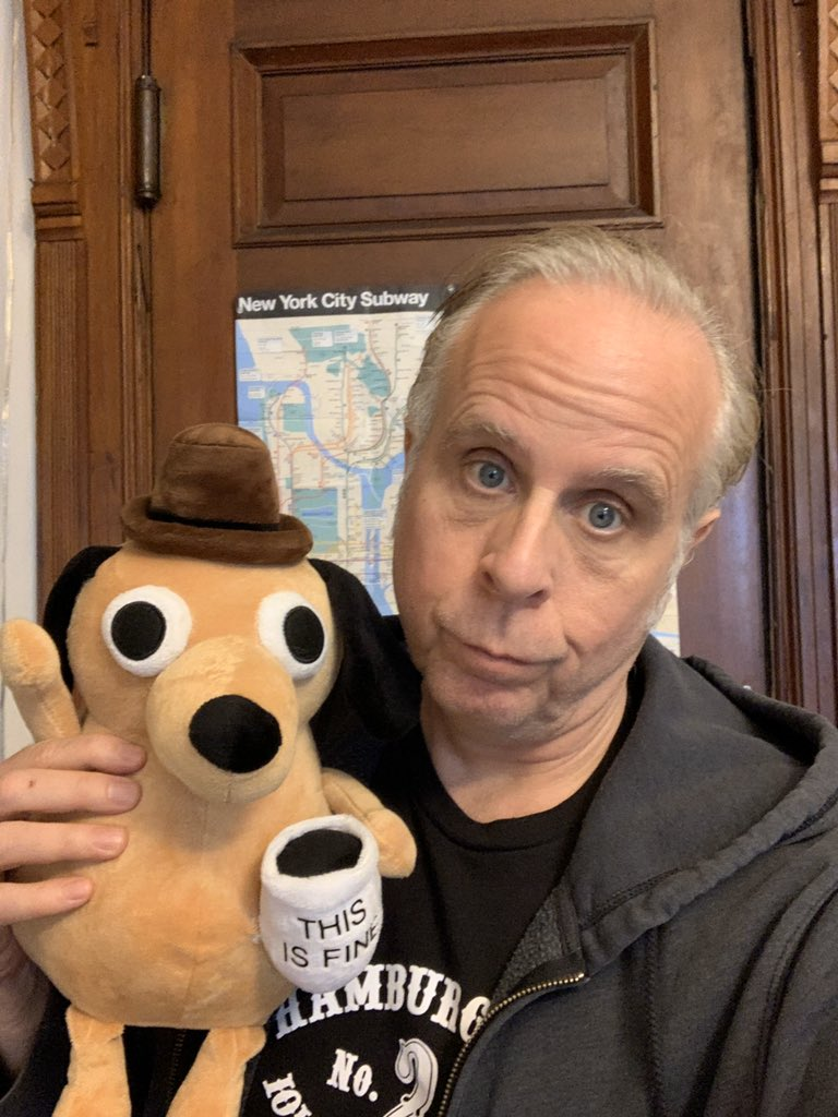 This Is Fine Dog Stuffed Animal, Tom Tomorrow On Twitter We Really Overused The This Is Fine Dog Way Too Early