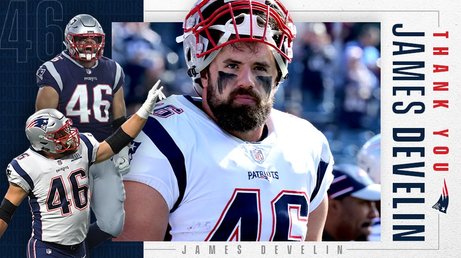The ultimate teammate and a true leader on and off the football field. THANK YOU, @James_Develin.
