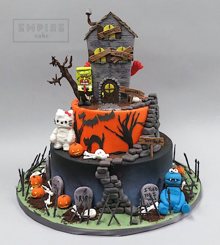 Groovy Ghoulia Childs On Twitter Haunted House Cake By Empire Cake Personalised Birthday Cards Epsylily Jamesorg