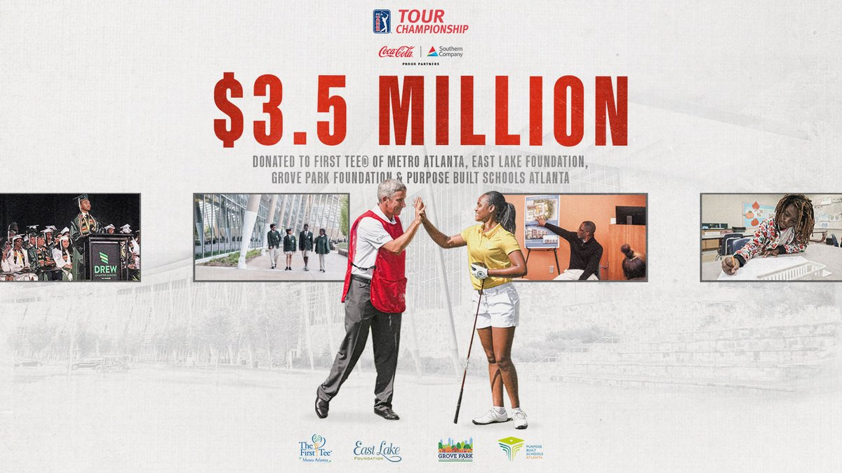 Charitable giving is at the heart of the @PGATOUR ❤️  Our $3.5M donation from the 2019 TOUR Championship will impact four Atlanta non-profits. https://t.co/AVXesn2u87