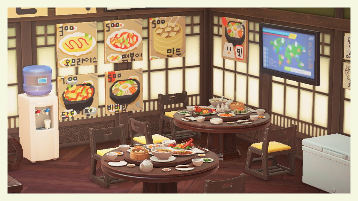Mike Choi On Twitter I Recreated One Of The Korean Restaurants From My Childhood In Animal Crossing Complete With Hand Drawn Menus Animalcrossing Acnh Https T Co 00qttt5cmh