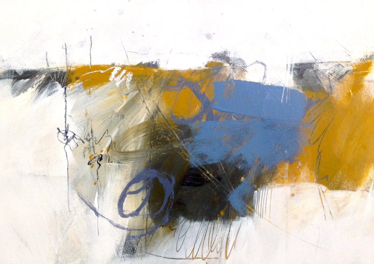 New #abstractlandscape in acrylic, graphite & oil pastel on watercolour board, from today's studio session. 24x34cm. #expressiveabstract #mixedmedia #artforlife #contemporaryabstract #artforinteriors #artforsale #buyoriginalart #interiordesign #contemporaryart #abstractartist pic.twitter.com/8FDZJDKrvJ