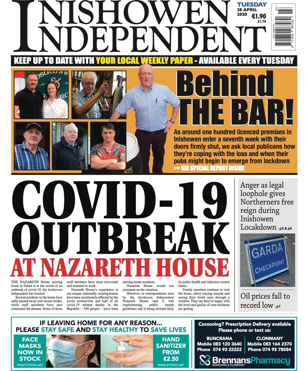 A busy edition this week. On sale in the morning.
