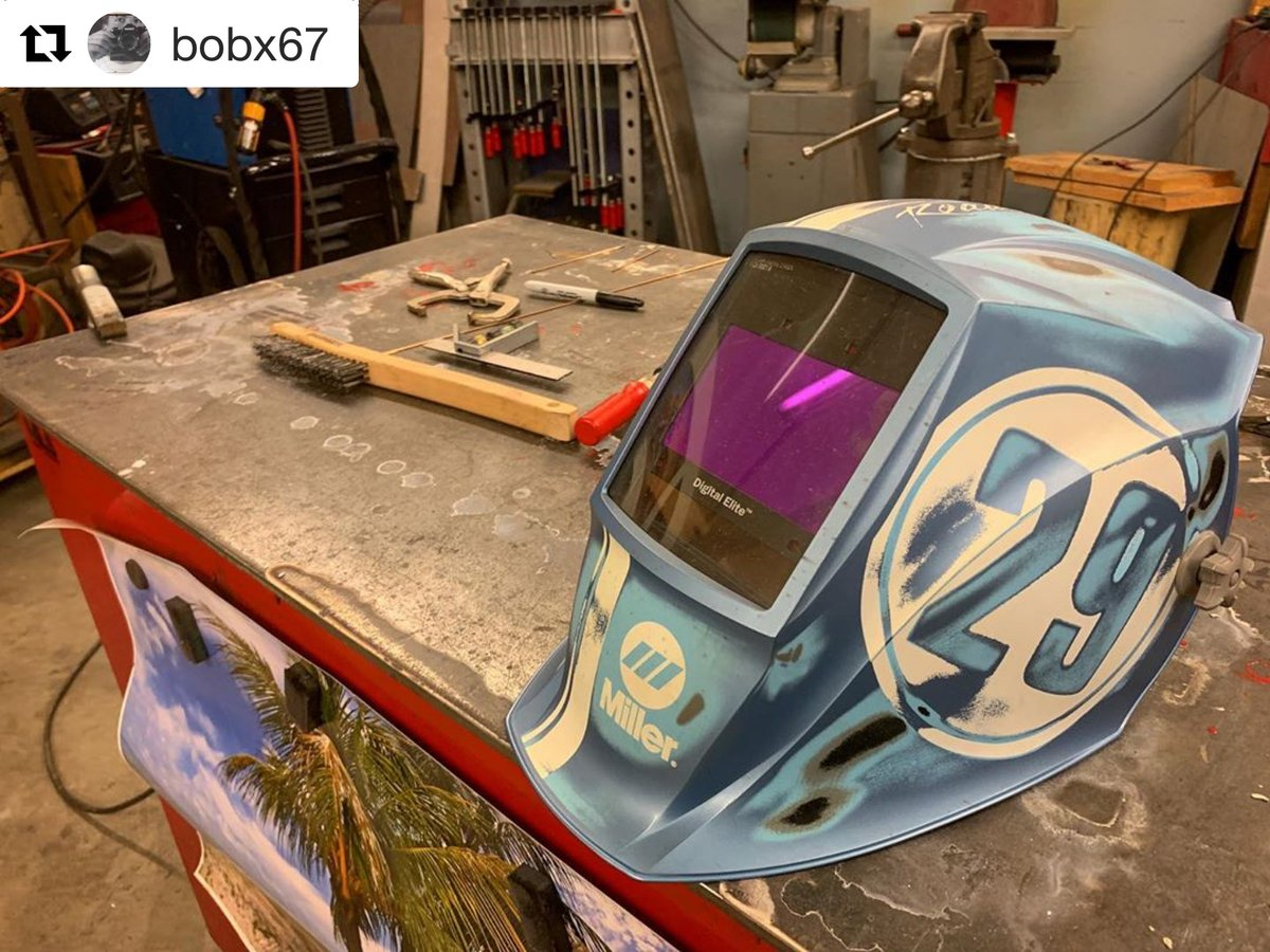 Welding is a passion – thanks for sharing bobx67! What safety gear do you have in your workspace? #MillerWelders #weldingsafety https://t.co/9VD3Spvuwu
