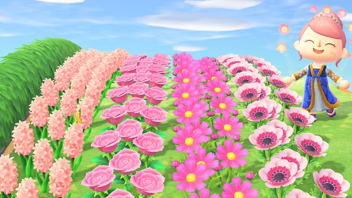 Animal Crossing New Horizons On Twitter Pink Flowers