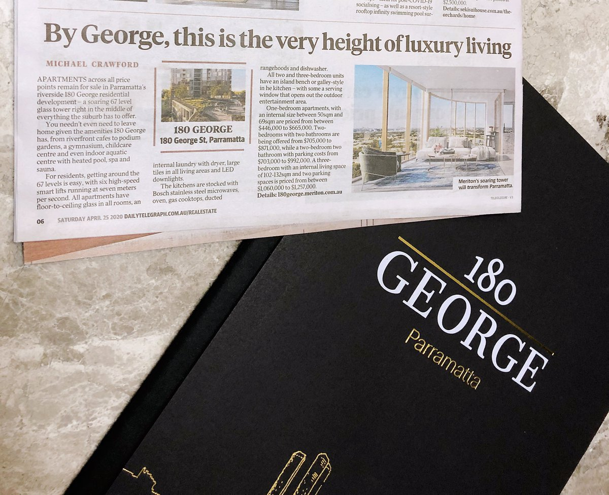 Thank you to @dailytelegraph for featuring our exciting new development 180 George, Parramatta. https://t.co/2tfDZzQJ1Q