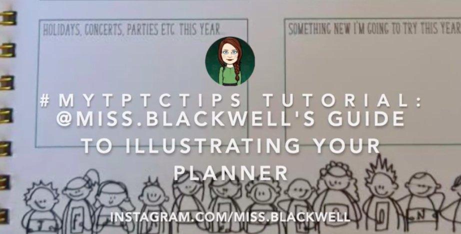 A lovely idea from @Miss.Blackwell on Instagram to help teachers with a planner. How to illustrate your teacher planner: https://www.youtube.com/watch?v=7rOZE53WDfA&t=93s… #mytptctips #TeachersHelpTeachers pic.twitter.com/nKvni6LVG2