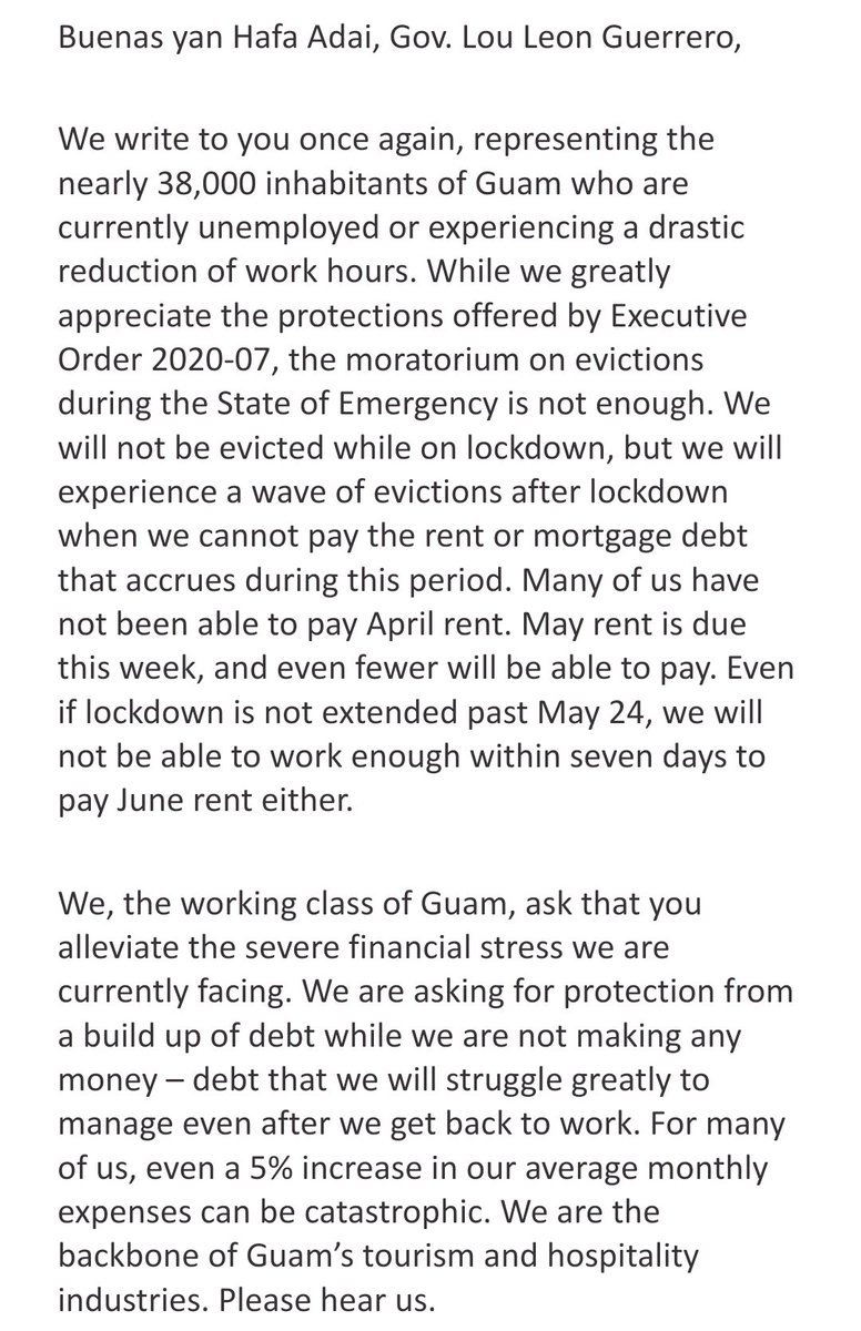 Below is the letter we sent to @louleonguerrero #ForAllOfUs