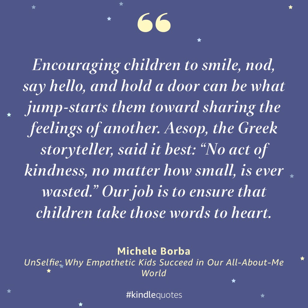 #Empathy brings out humanity & can be stretched w small kind acts. Help kids build their #kindness muscles.