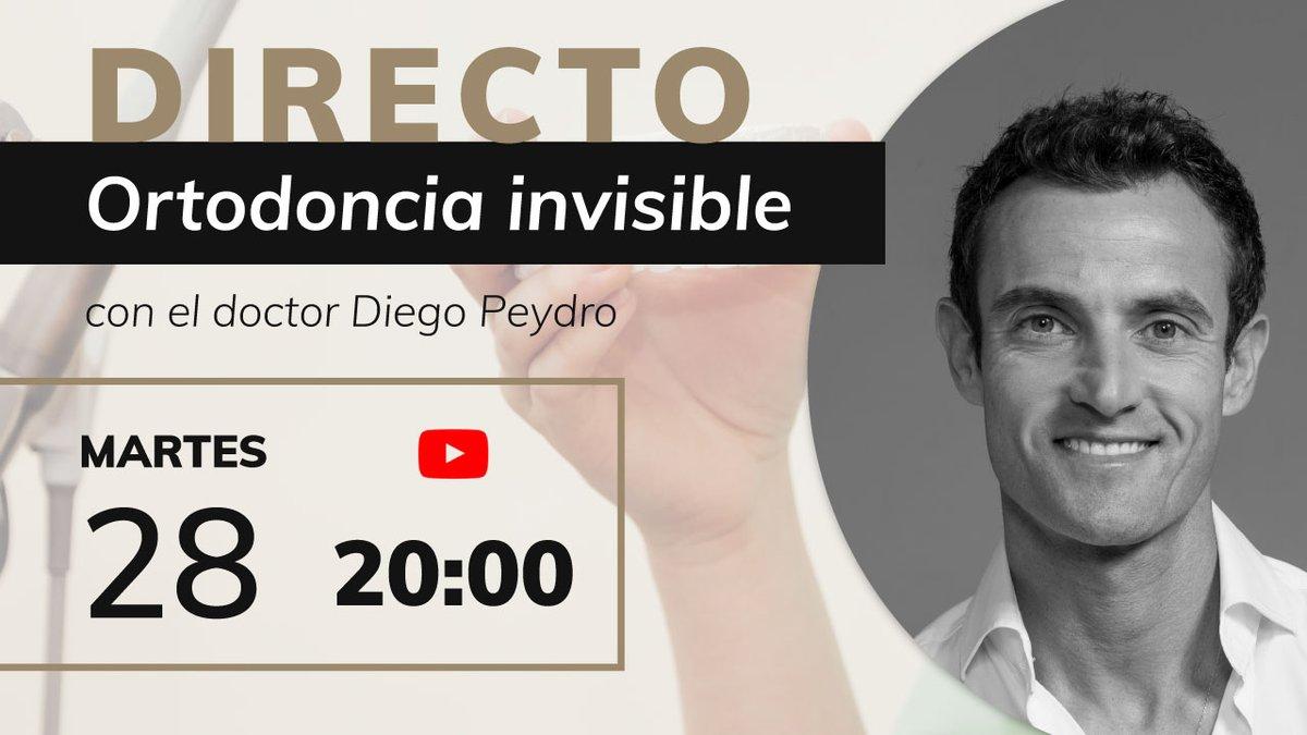Recordad que hoy a las 20:00h, el doctor Diego Peydro estará en directo en nuestro canal de Youtube para hablar sobre #ortodonciainvisible  ¡Esperamos verte por allí! En link de acceso es 👉 https://t.co/2XI2lHt8pp     #invisalign #ortodoncia #spark #ortodoncistas #Valencia https://t.co/qy3ztEeVqQ