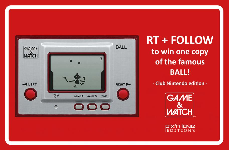 Today is the 40th anniversary of the Game & Watch!  Sooo, big contest ⚠️  Win the Game & Watch Ball, Club Nintendo edition 🤹  RT + Follow @PixnLove_Store to participate!  The winner will be randomly drawn on Monday, May 4th.  Good luck 🤞