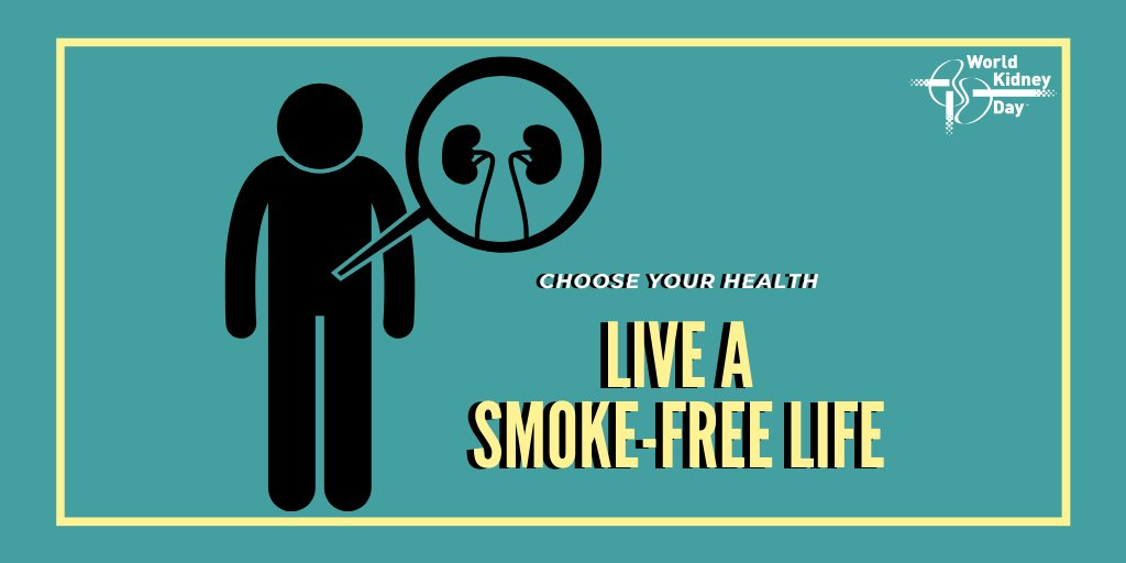 World Kidney Day On Twitter Didyouknow That Smoking Slows The Flow Of Blood To The Kidneys When Less Blood Reaches The Kidneys It Can Decrease Their Ability To Function Normally Smoking Also