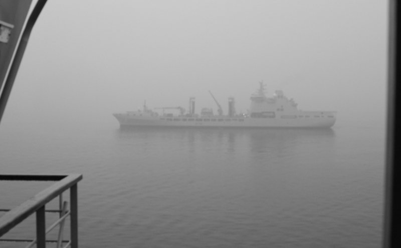 Foggy & wet day, but it still wont stop us getting fuel from @RFATidespring Its great to see you, enjoy the cases of soft drinks weve sent over this morning. @RFAHeadquarters @RoyalNavy