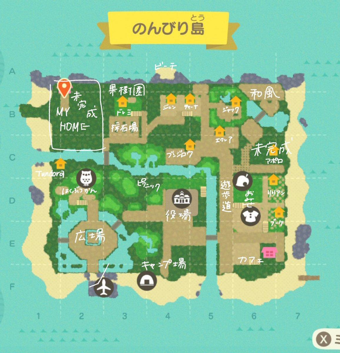 あつ 森島 クリエイター マップ