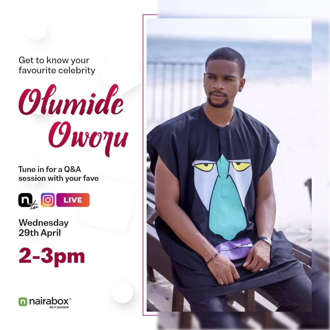 Want to know more about your favorite celeb?? Not to worry, we've got you covered with our live Question and Answer sessions with your favorite celebs on Wednesday!💃🏽 @OlumideOworu is our guest for tomorrow and trust me, you don't want to miss this one😎