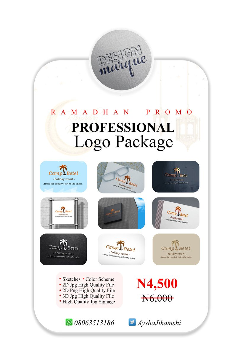 @The_Peng_C Need a Logo?? Make your Brand a step ahead this Ramadhan at a discounted rate 🥂  #RamadanMubarak #TuesdayMotivation #StayAtHomeSaveLives #4thmay #COVID19 #virginbroadband #minutesilence #ufo2020 #lagoslockdown   Retweet 🥰 https://t.co/nGaKSv890Q