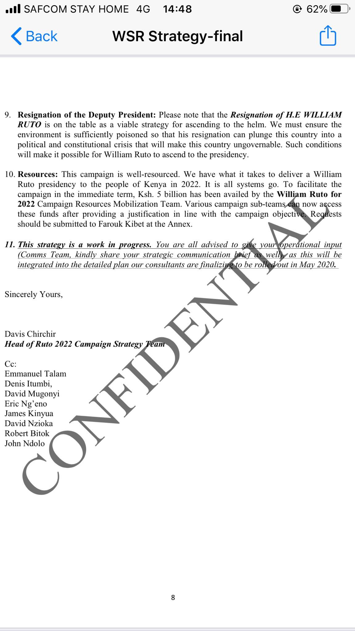 Checkout William Ruto 2022 Presidential Plan