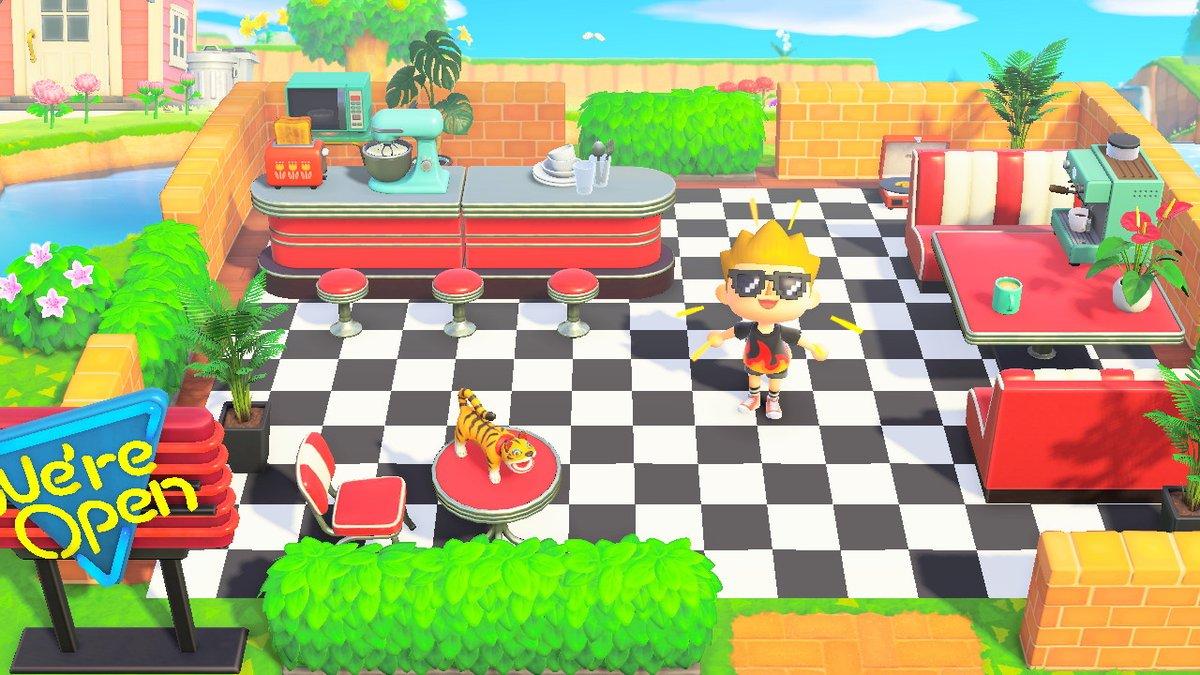 Lacey On Twitter Outdoor Diner Done Animalcrossing Acnh