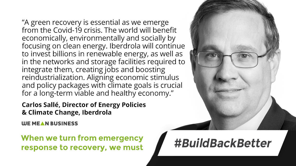 .@iberdrola @carlos_salle_ib joins the call to #BuildBackBetter - to deliver a long-term, resilient and healthy economy, as we turn from emergency response, to recovery. wemeanbusinesscoalition.org/build-back-bet… #GreenStimulus #G20