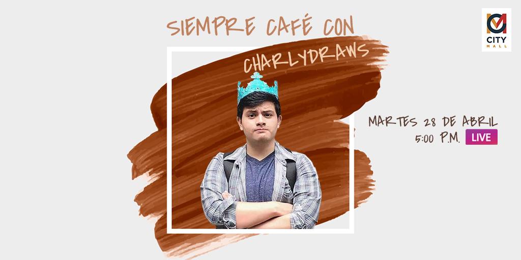¡Seguimos apoyando el arte y talento hondureño! ¡Únete a nuestro Instagram live con Charly Draws!💙👨🎨 #CaféConCharly 👽☕️ #TalentoCuarentena #CityMallHND #CAM https://t.co/QIMIYtKcES