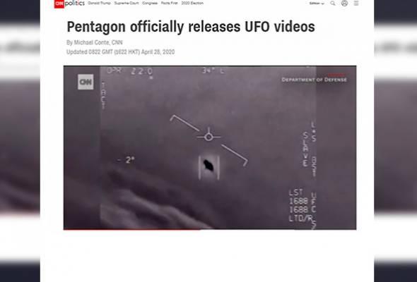 Pentagon siar rakaman video menyerupai UFO yang ditemui Tentera Laut AS #AWANInews #AWANIviral  https://t.co/wF5Vk59Q07 https://t.co/kND1xMKPJe