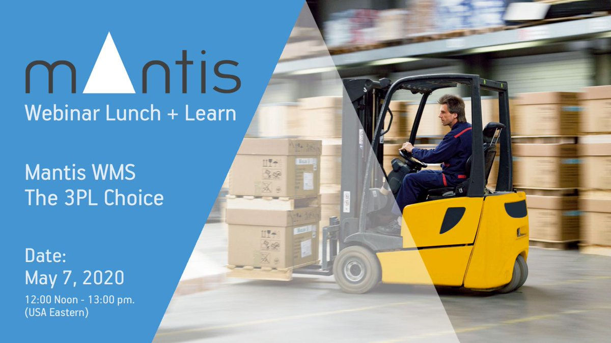 Join us for this Lunch and Learn webinar and you will see specifically how Logistics Vision Suite #LVS application provides our #3PL customers to be #adaptive, #flexible, #efficient  Register here: https://t.co/zSJPzlhEt3 #supplychain #logistics #WMS #logisticsvisionsuite #4pl https://t.co/8TmtP7337V