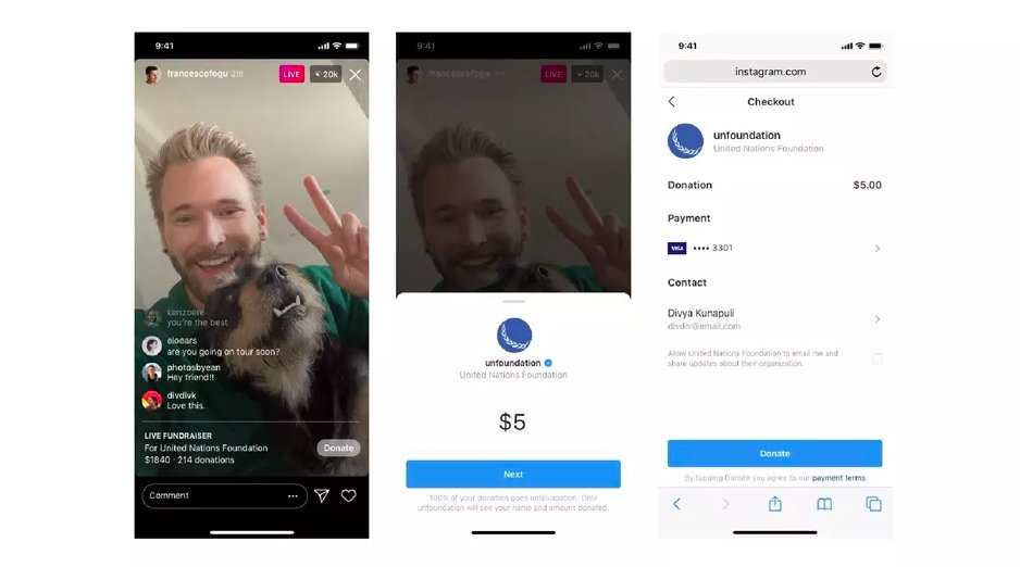 Instagram is introducing a new way for users to raise money for nonprofits.