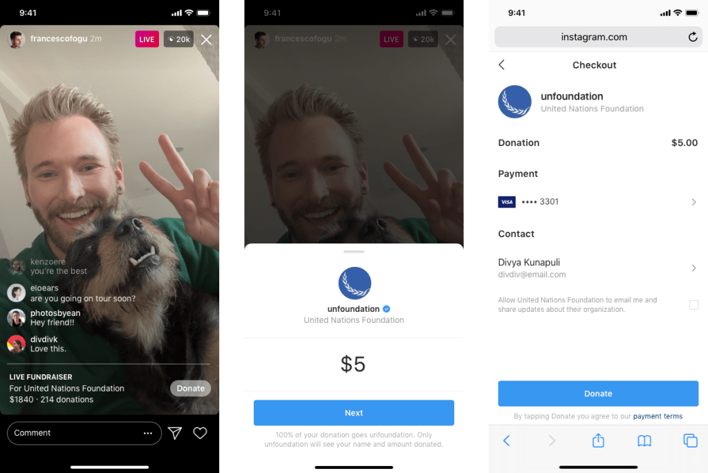 Instagram now allows users to fundraise for nonprofits while livestreaming by @sarahintampa