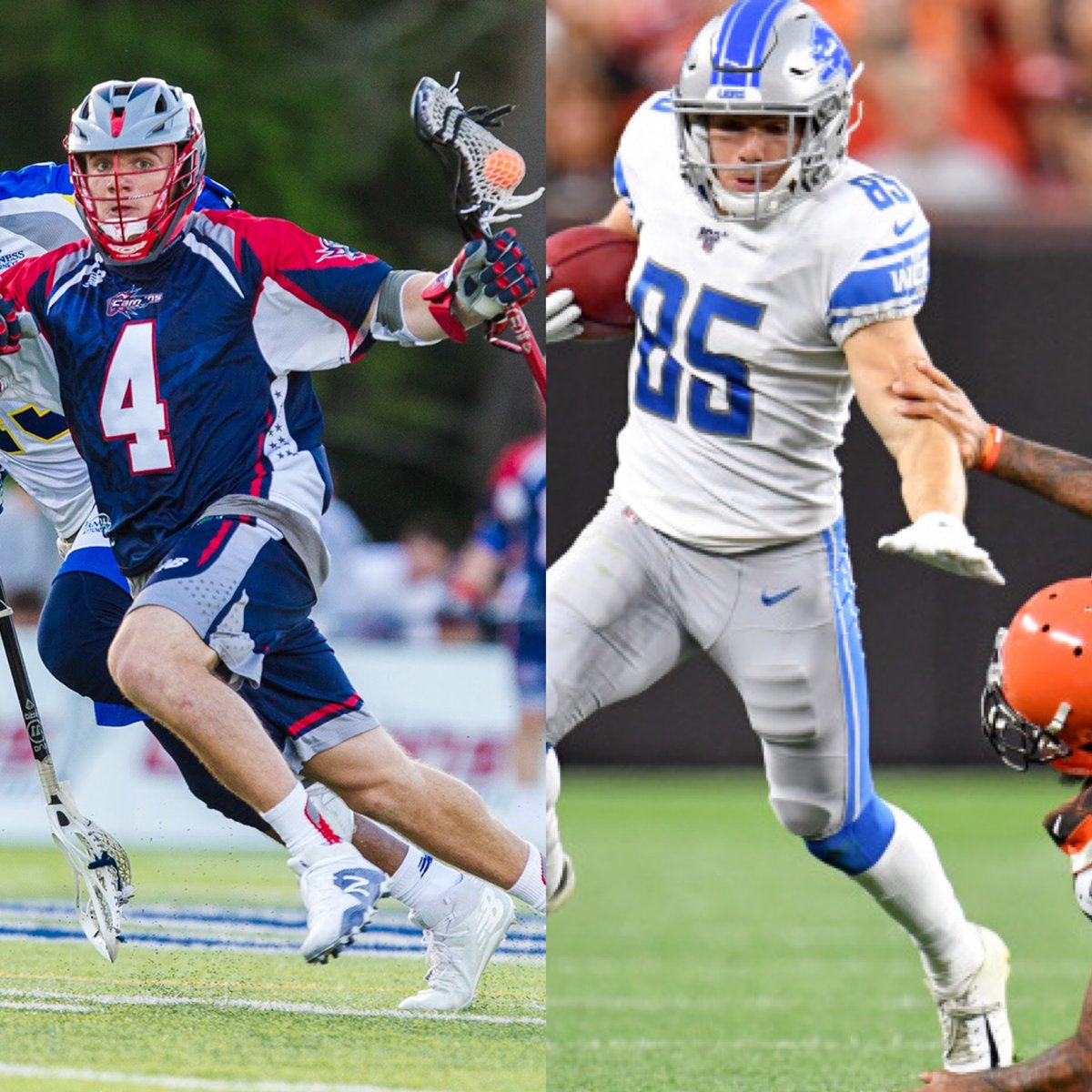 To celebrate last week's #NFLDraft and Monday's MLL Draft, we're highlighting former Cannons 2018 3rd round draft pick Tom Kennedy.   The only person to have played both pro🥍and🏈, Kennedy joined the @Lions in 2019.   The Boston Cannons 2020 Draft is Powered by @CitizensBank https://t.co/4NedNYg1xk