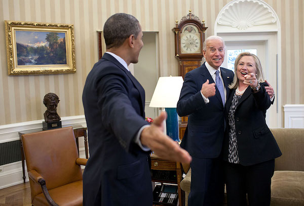 A little hint about who the surprise guest will be for @JoeBiden's 3pm ET town hall today: (She's excited.)