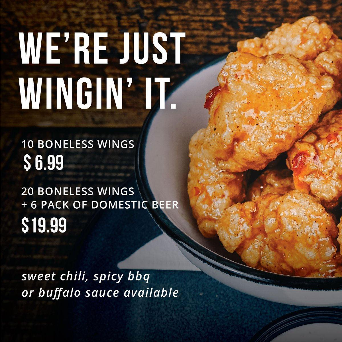 Walk On S Sports Bistreaux On Twitter More Wings Deals More To Love When You Don T Feel Like Cooking Come See Us Curbside Pickup Only Https T Co Qvamaxkp6p Https T Co 327epiz5zm
