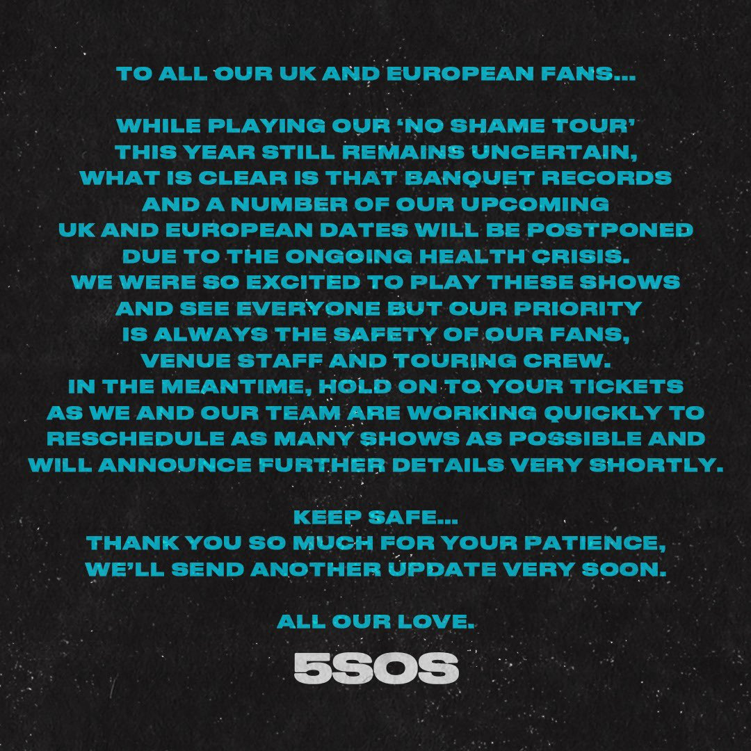 To all our UK and European fans...