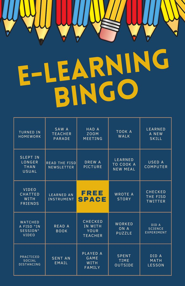 How has eLearning been going for you? Tweet us your completed Bingo boards!