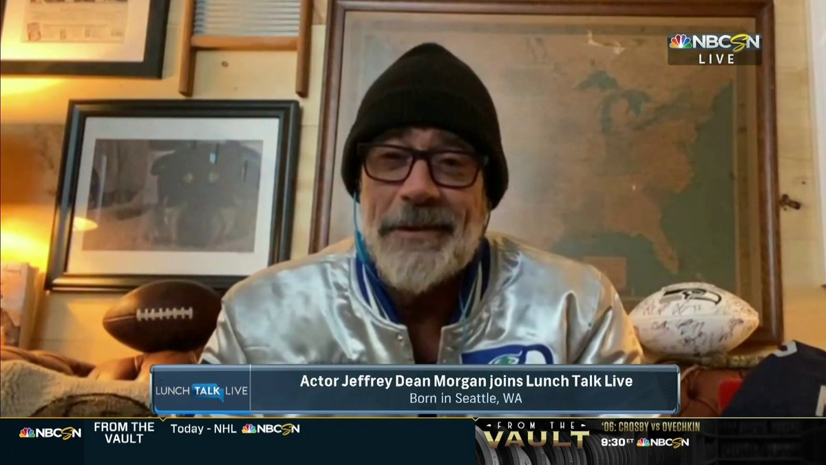 Actor and @WalkingDead_AMC star @JDMorgan talks about how raising the 12th flag at @CenturyLink_Fld before a @Seahawks game was the single greatest moment of his life. #LunchTalkNBCSN
