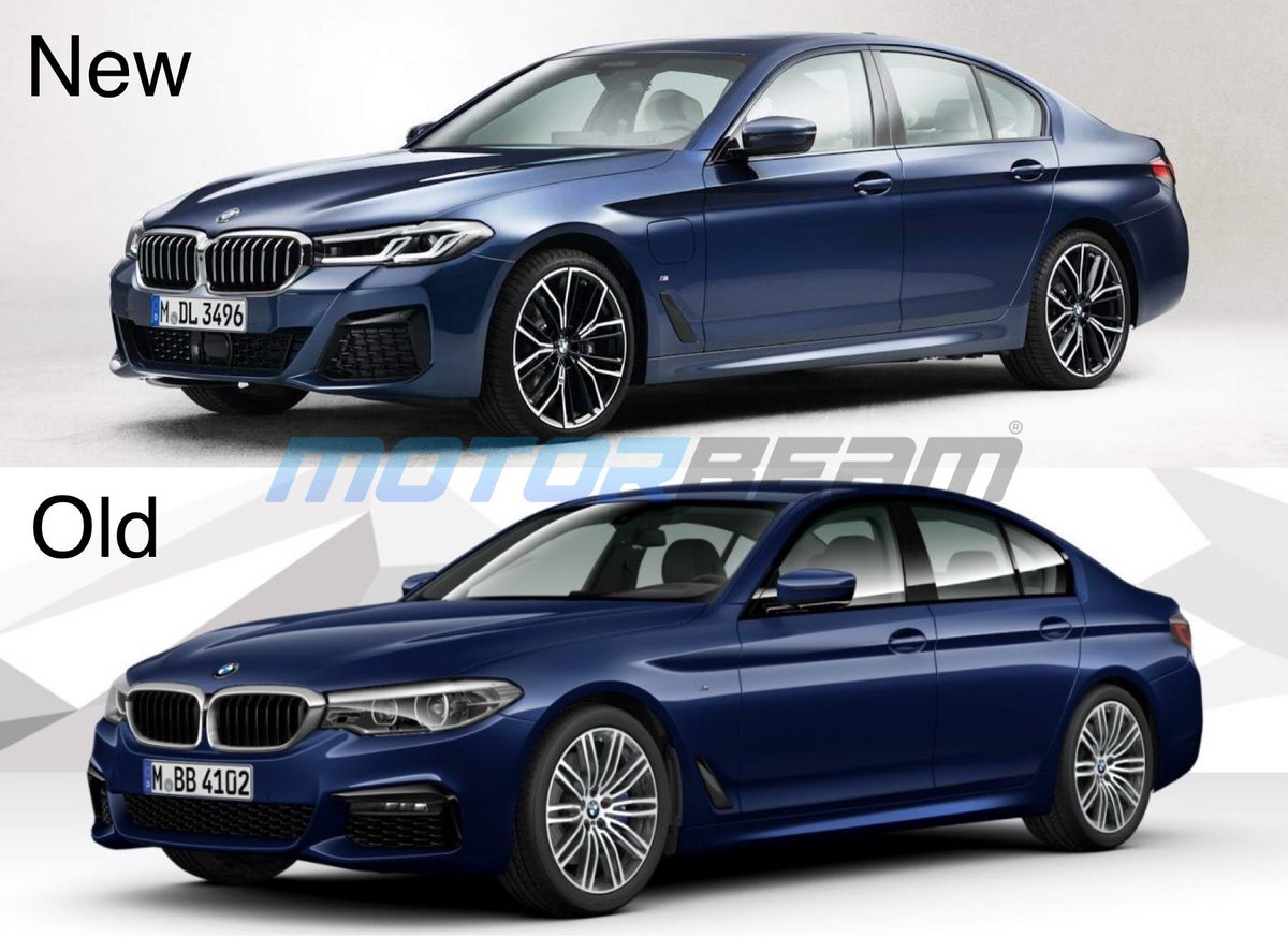 Motorbeam در توییتر New Bmw 5 Series Facelift Leaked Ahead Of Official Debut Comes With Sharp Styling Elements Hint Of 3 Series In The Headlights Swipe Left To See New Vs Old Comparison Pictures
