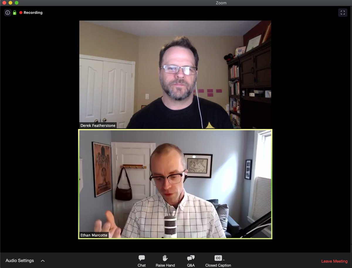 Fun to hear two of my favorite folks and good friends share about the history of this beautiful medium were building for. #rwd #accessibility @feather @beep