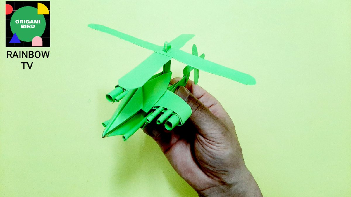 How to make Origami Helicopter - YouTube | 675x1200